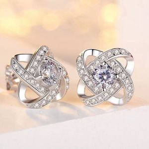 Swarovski Elements Crystal Knot Earrings